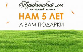 ЮБИЛЕЙ КОТТЕДЖНОГО ПОСЁЛКА «ПУШКИНСКИЙ ЛЕС»!